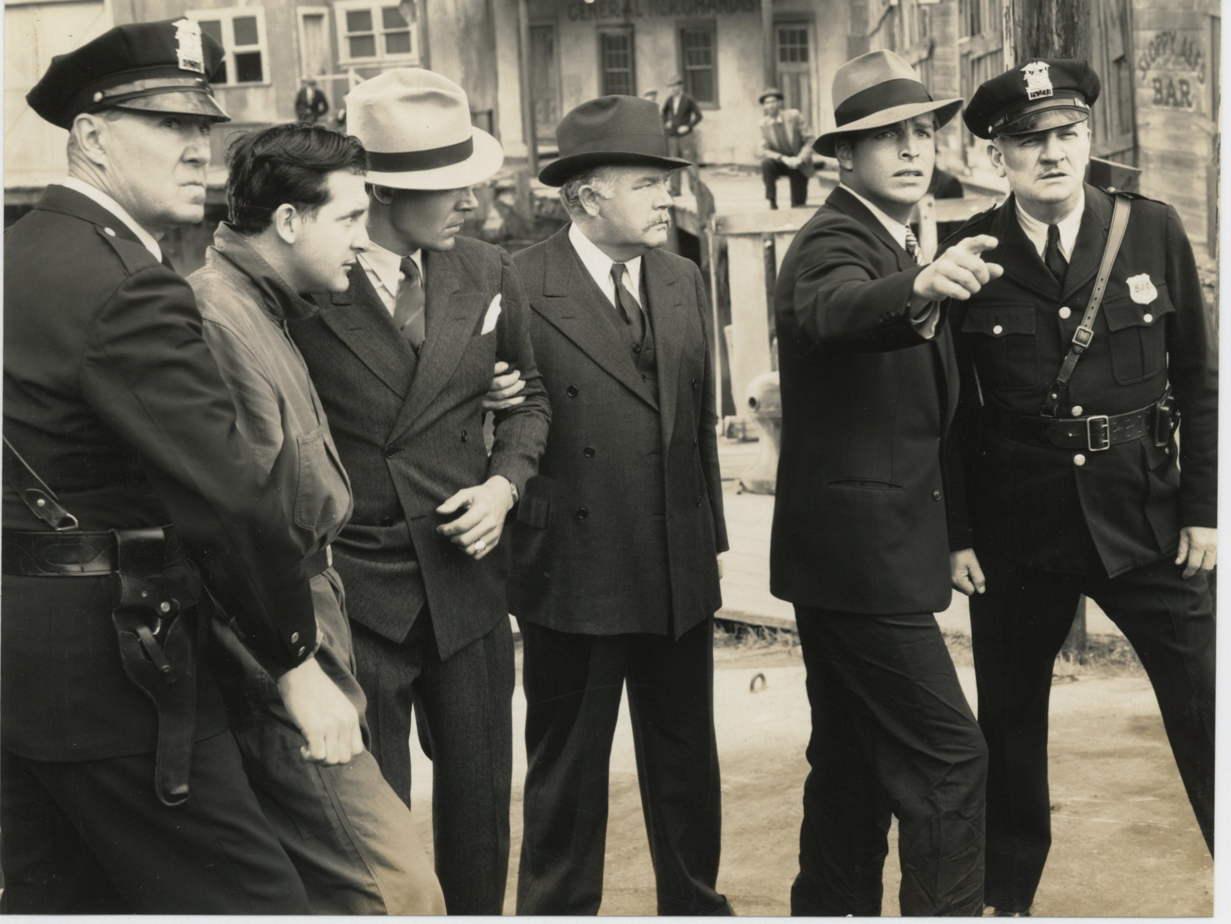 Wade Boteler, Buster Crabbe, Kernan Cripps, Donald Gallaher, William Gould, and Hugh Huntley in Red Barry (1938)