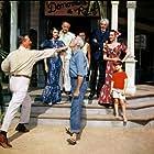 John Wayne, Lee Marvin, Cesar Romero, Elizabeth Allen, Dorothy Lamour, Jacqueline Malouf, and Jack Warden in Donovan's Reef (1963)