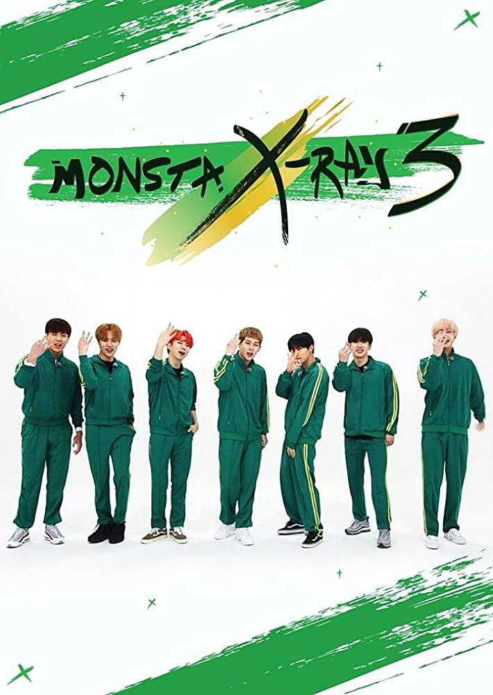 Jooheon, Wonho, Minhyuk, Kihyun, Hyungwon, Changkyun, Monsta X, and Shownu in MONSTA X-Ray (2017)