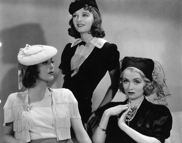 Constance Bennett, Janet Gaynor, and Loretta Young in Ladies in Love (1936)