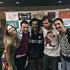 João Vitti, Lucas D'Jesus, Fábio Brandão, Raphaela Palumbo, and Silvio Gonzalez at an event for Fim (2016)