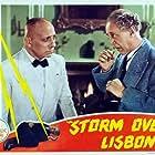 Erich von Stroheim and Otto Kruger in Storm Over Lisbon (1944)
