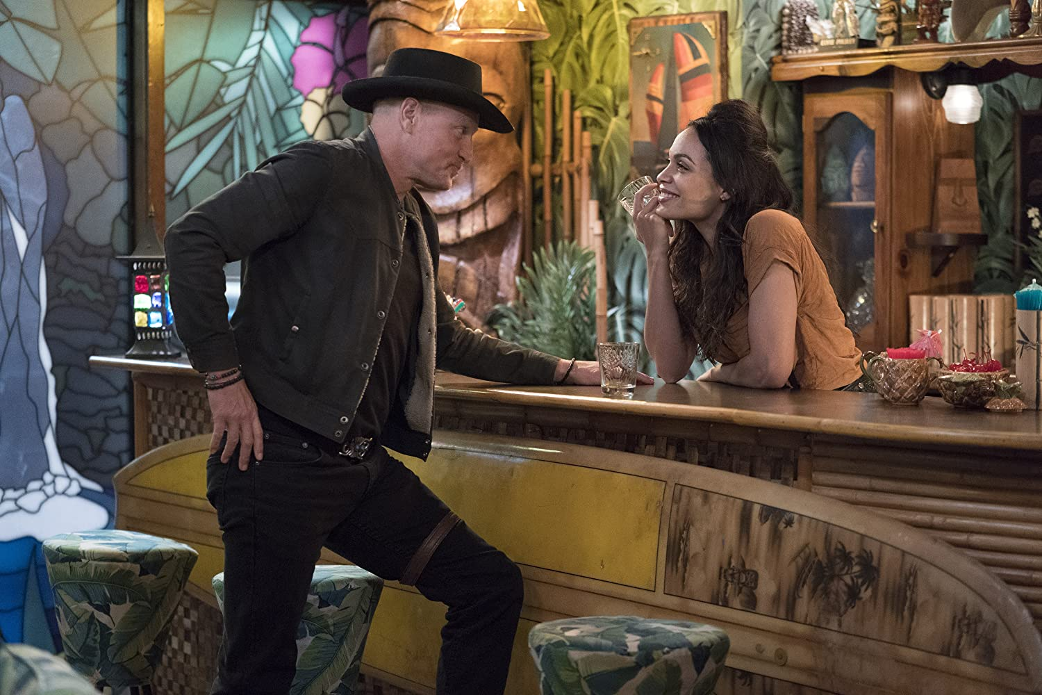 Woody Harrelson and Rosario Dawson in Zombieland: Double Tap (2019)