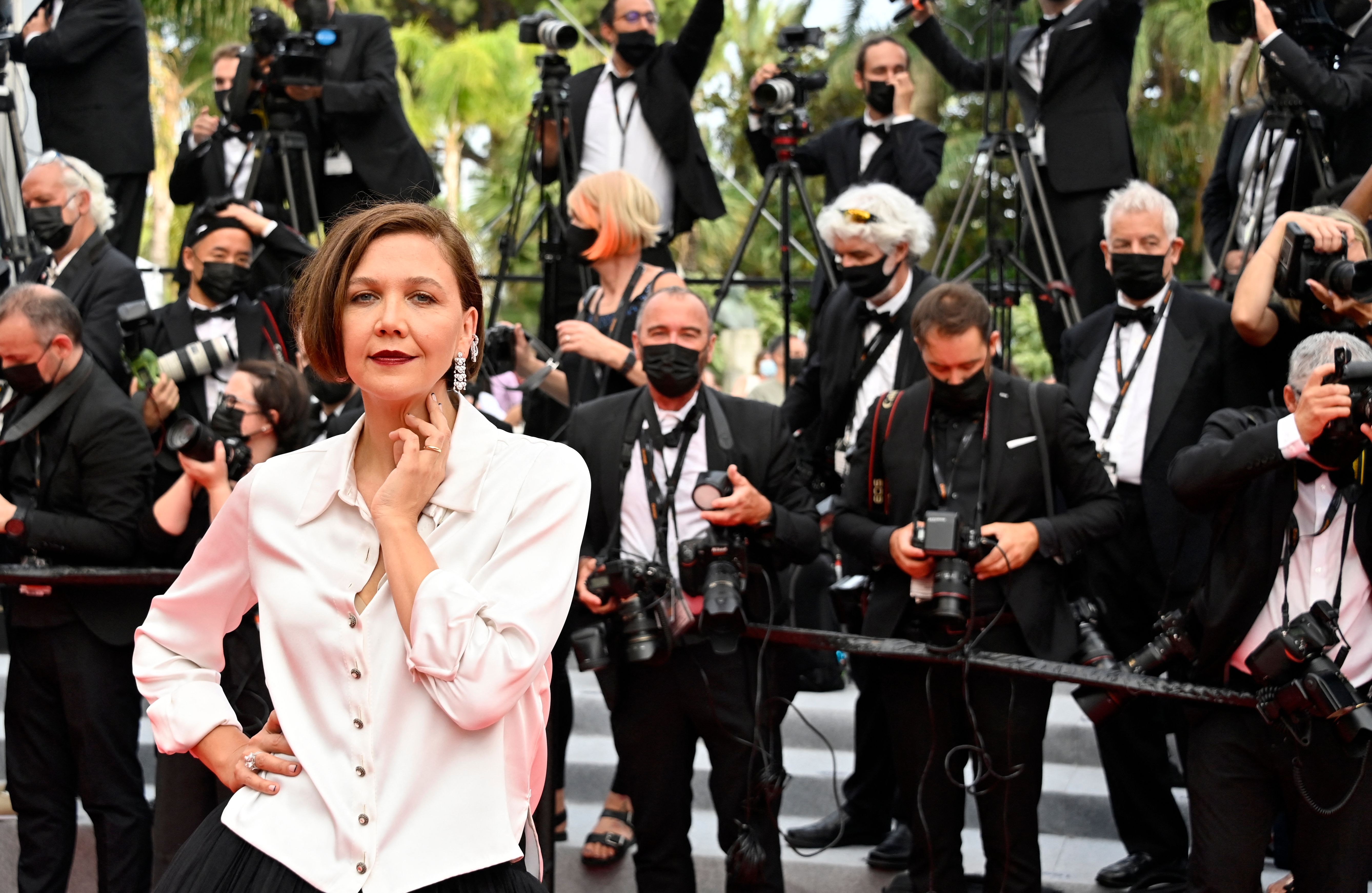 Maggie Gyllenhaal at an event for The French Dispatch (2021)