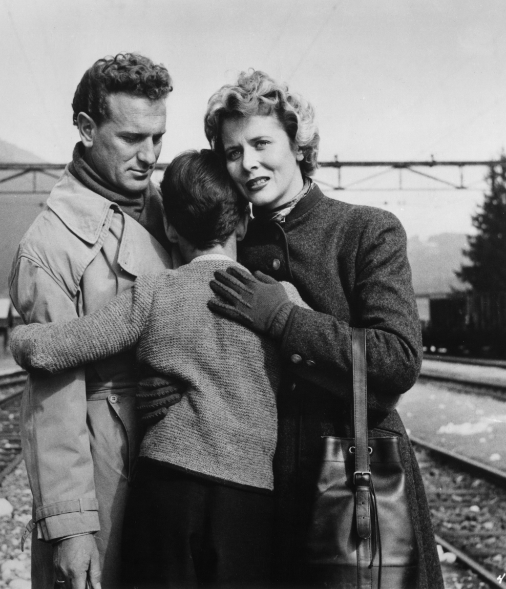 Cornell Borchers, Armin Dahlen, and Michel Ray in The Divided Heart (1954)