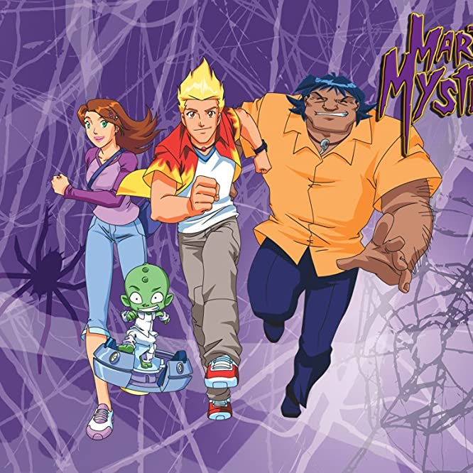Sam Vincent, Kelly Sheridan, and Dale Wilson in Martin Mystery (2003)