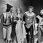 Suzanne Fields, Joseph Hudgins, Jason Williams, and Mycle Brandy in Flesh Gordon (1974)