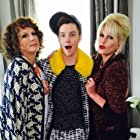 Joanna Lumley, Jennifer Saunders, and Chris Colfer in Absolutely Fabulous: The Movie (2016)
