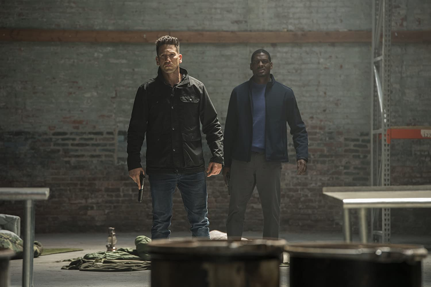 Jon Bernthal and Jason R. Moore in The Punisher (2017)
