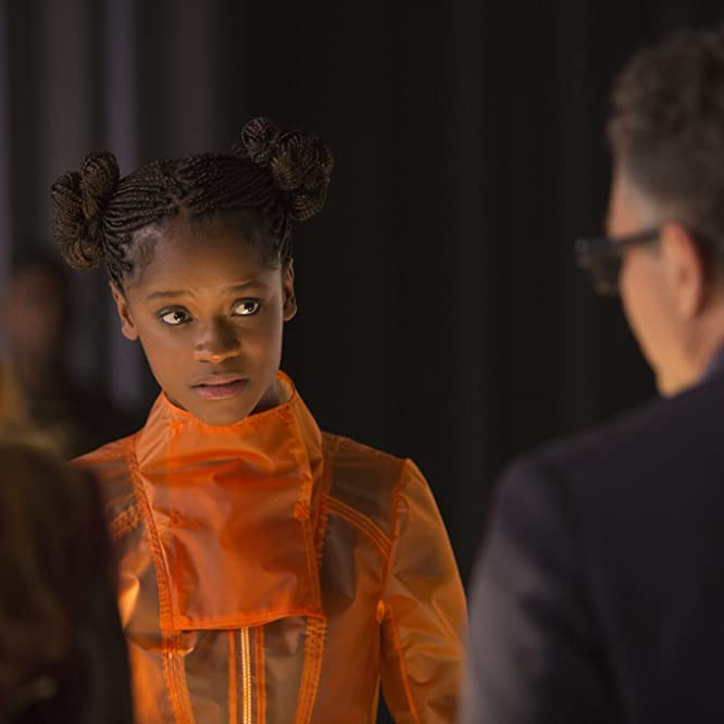 Mark Ruffalo and Letitia Wright in Avengers: Infinity War (2018)