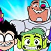 Tara Strong, Scott Menville, Hynden Walch, Greg Cipes, and Khary Payton at an event for Teen Titans Go! To the Movies (2018)