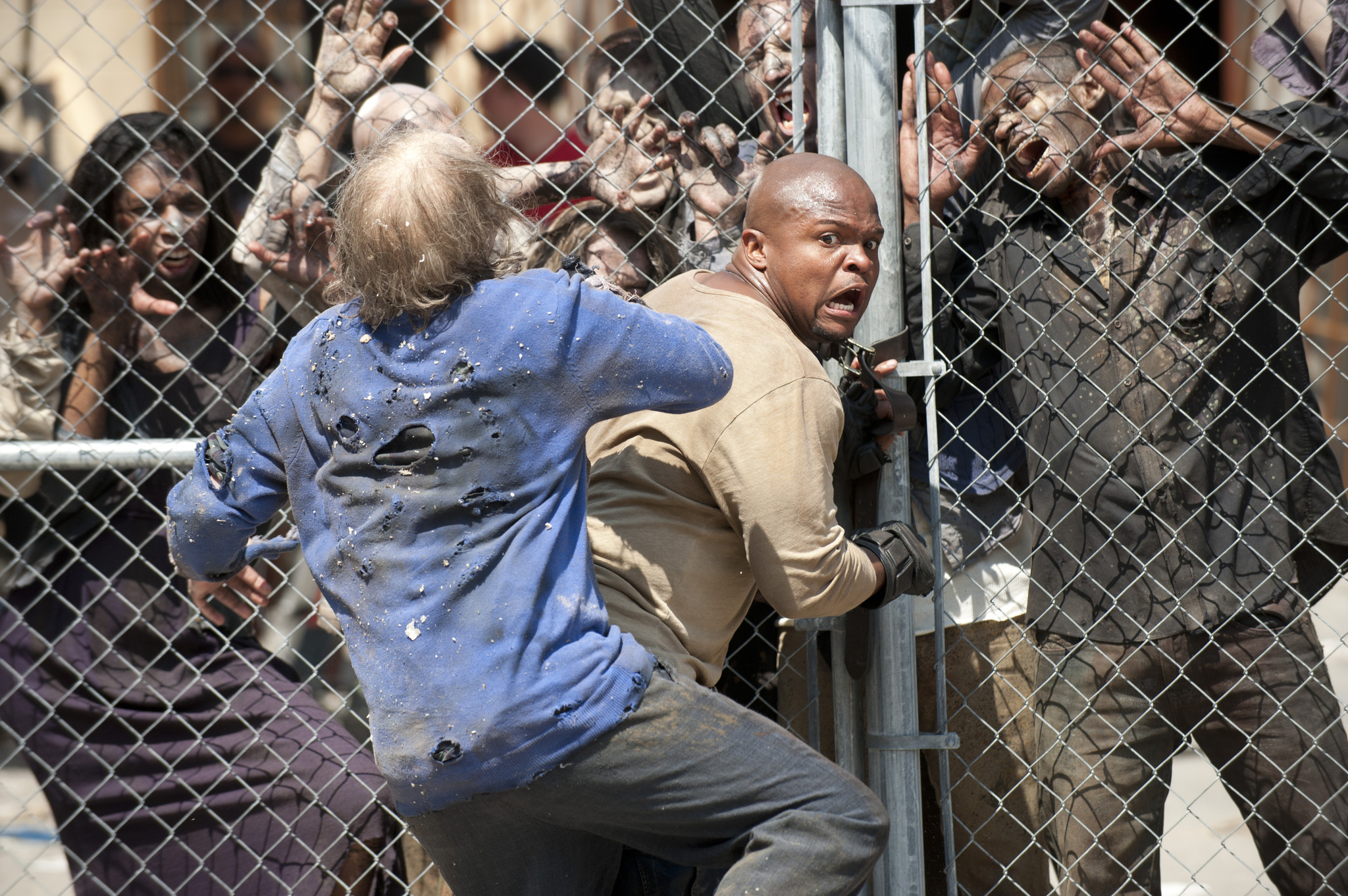 Irone Singleton and Andrew S. McMillan in The Walking Dead (2010)