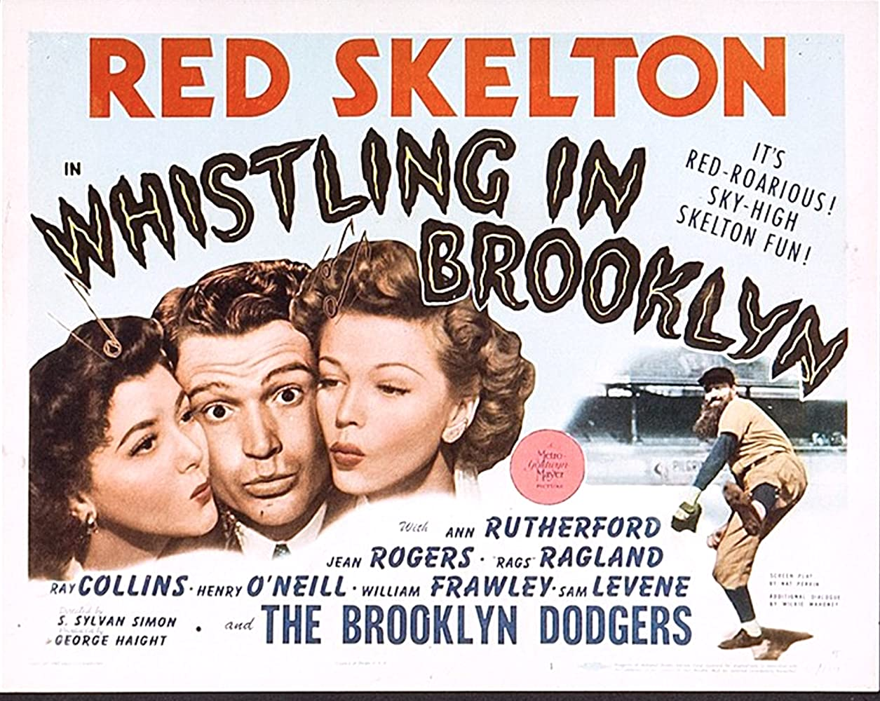 Jean Rogers, Ann Rutherford, and Red Skelton in Whistling in Brooklyn (1943)