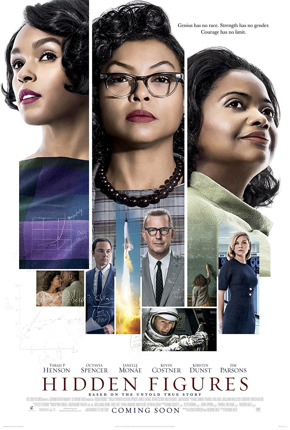 Hidden Figures 2016 Dual Audio Hindi 490MB BluRay ESub Download