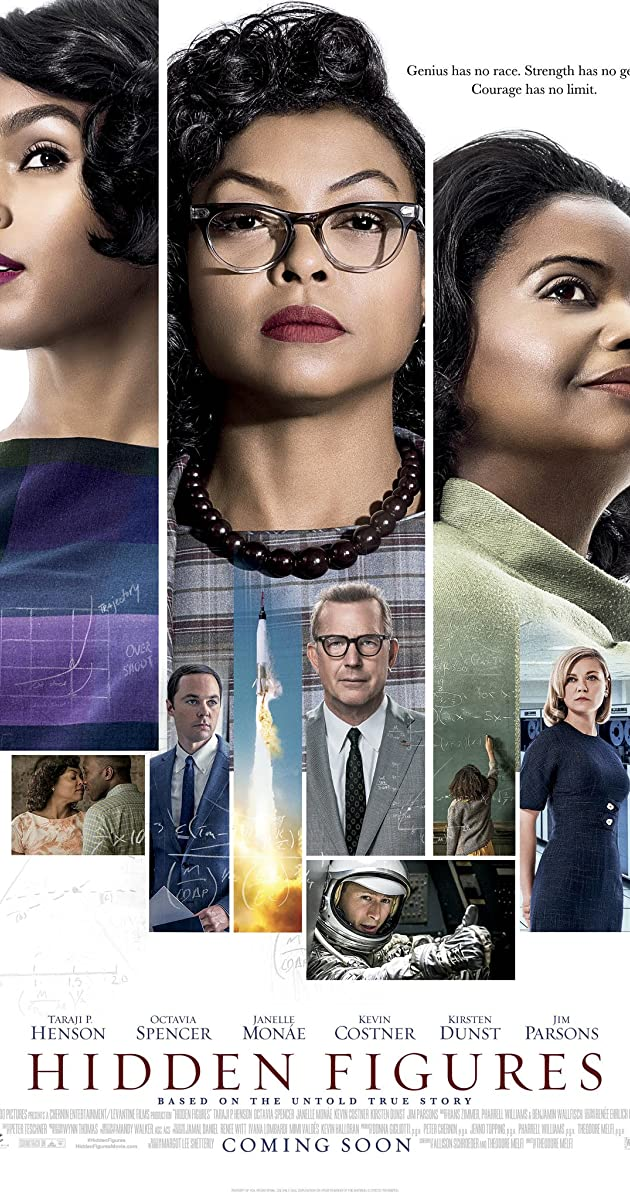 Hidden Figures 2016 Hindi Dubbed 720p BluRay ESubs 907MB Download