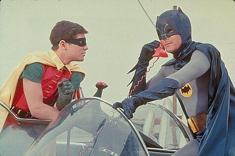 Adam West and Burt Ward in Batman The Movie 1966