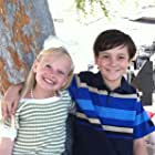 Danielle Parkrer and Griffin Cleveland on the set of Hallmark's The Seven Year Hitch