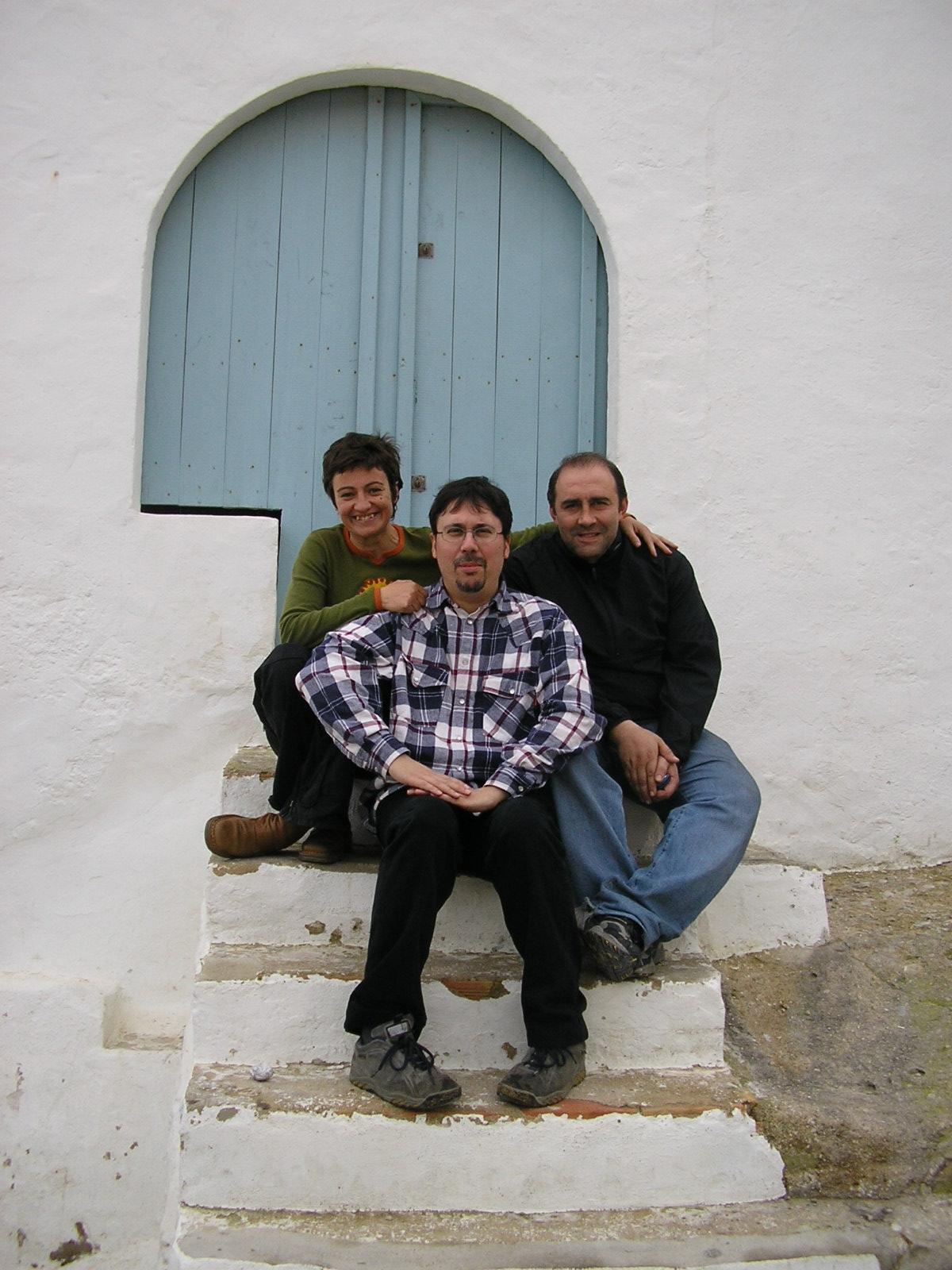 Shooting LA HORA FRIA, with production director Carmen Sánchez and production manager Juan Lorenzo Prada