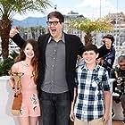 Mark Osborne, Riley Osborne, and Mackenzie Foy at an event for Le Petit Prince (2015)