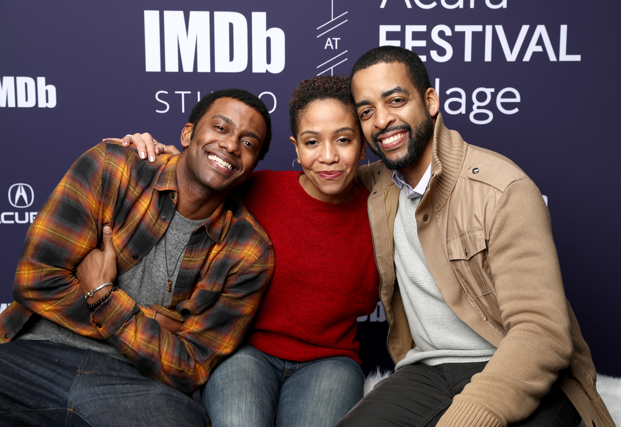 Rashaad Ernesto Green, Zora Howard, and Joshua Boone at an event for The IMDb Studio at Sundance (2015)