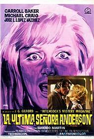 Carroll Baker and Michael Craig in La última señora Anderson (1971)