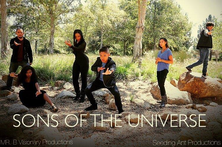 Marita de Lara, Ryan Mercado, Mathew Belnas, and Christian Alexander Cruz in Sons of the Universe (2016)