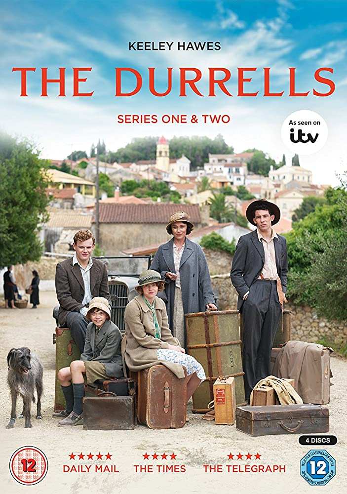 Keeley Hawes, Josh O'Connor, Milo Parker, Daisy Waterstone, and Callum Woodhouse in The Durrells (2016)