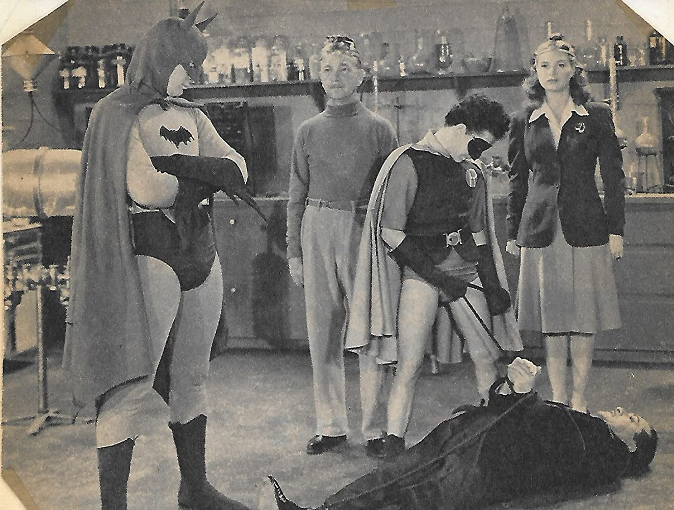 William Austin, Douglas Croft, Shirley Patterson, and Lewis Wilson in Batman (1943)