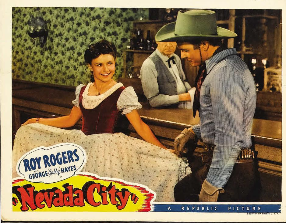Roy Rogers, Frank O'Connor, and Sally Payne in Nevada City (1941)