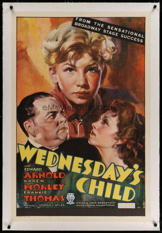 Edward Arnold, Karen Morley, and Frankie Thomas in Wednesday's Child (1934)
