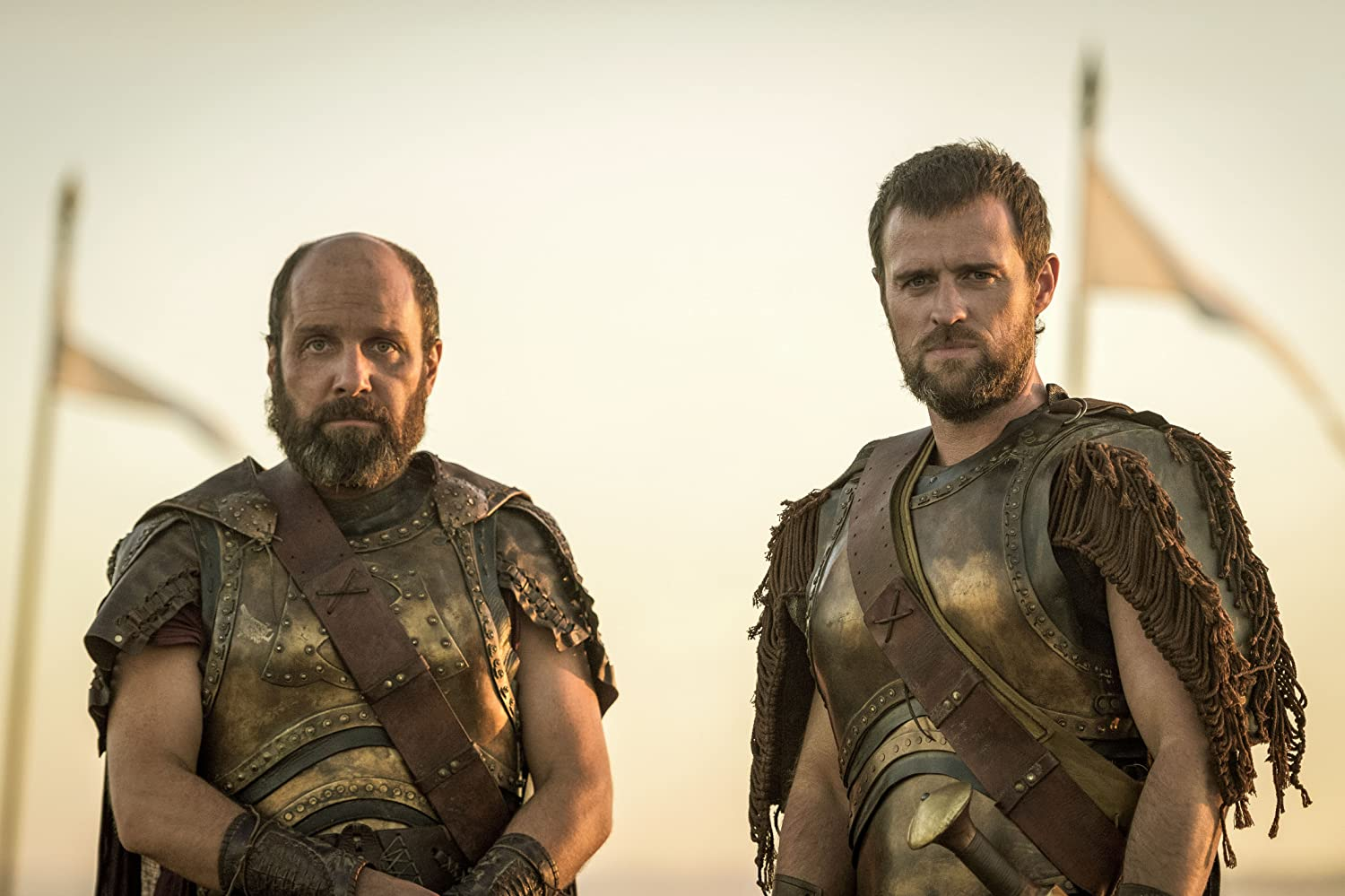 Johnny Harris and Jonas Armstrong in Troy: Fall of a City (2018)