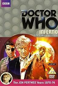 Nicholas Courtney, Jon Pertwee, and Ian Fairbairn in Doctor Who (1963)