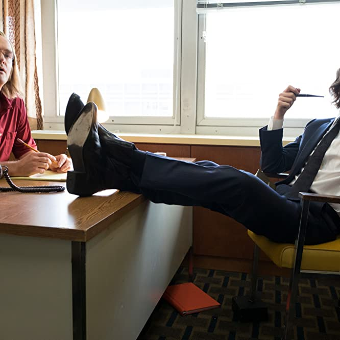 Will Forte and Domhnall Gleeson in A Futile and Stupid Gesture (2018)