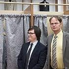 Clark Duke and Rainn Wilson in The Office (2005)
