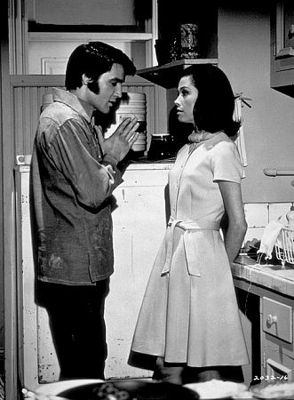 "Elvis Presley and Mary Tyler Moore in ""Change of Habit,"" Universal, 1969."