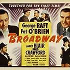 Broderick Crawford, Pat O'Brien, Janet Blair, Mack Gray, and George Raft in Broadway (1942)