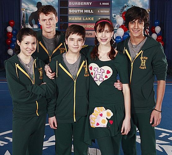 Nathan Kress, Jordan Becker, Brenna O'Brien, Alexia Fast, and Avan Jogia in Gym Teacher: The Movie (2008)