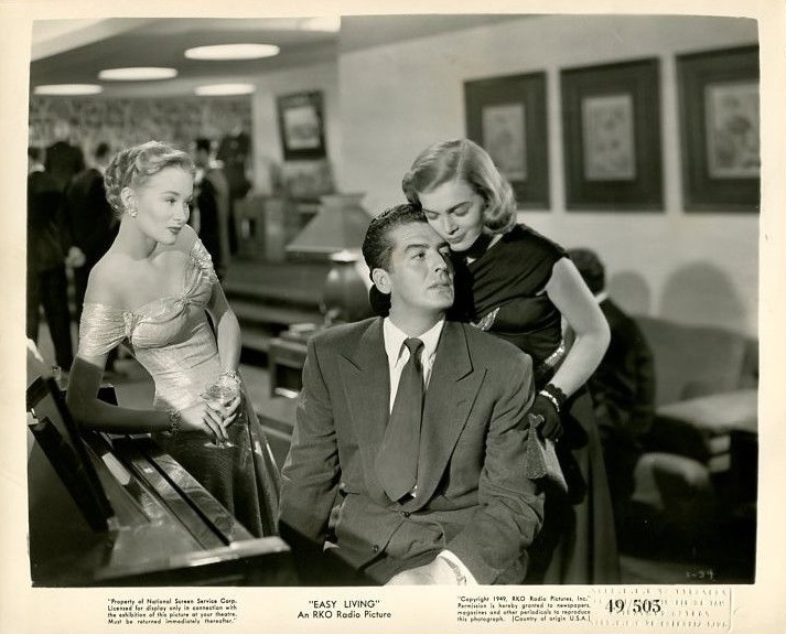 Victor Mature and Lizabeth Scott in Easy Living (1949)