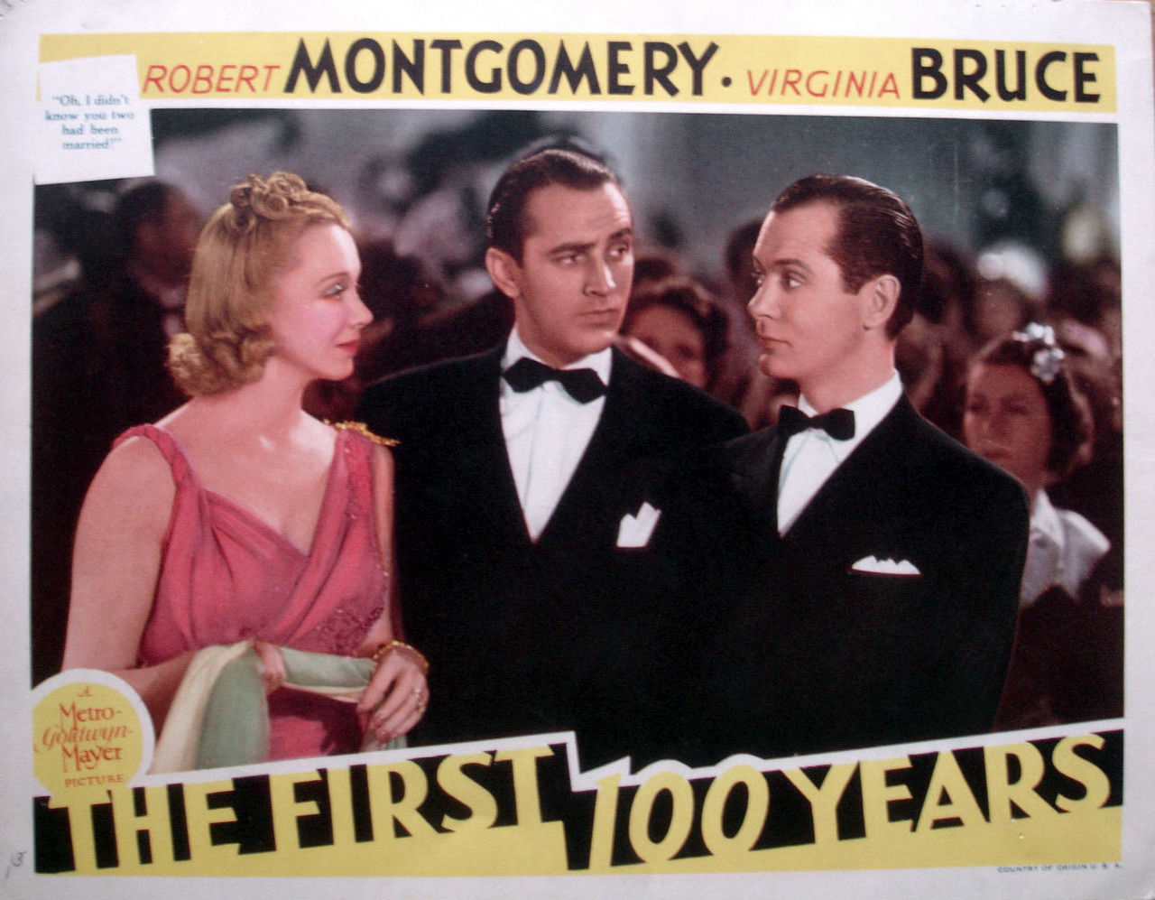 Lee Bowman, Virginia Bruce, and Robert Montgomery in The First Hundred Years (1938)