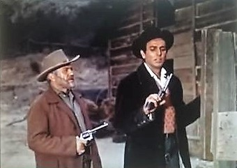 Paul Birch and Mike Connors in Five Guns West (1955)
