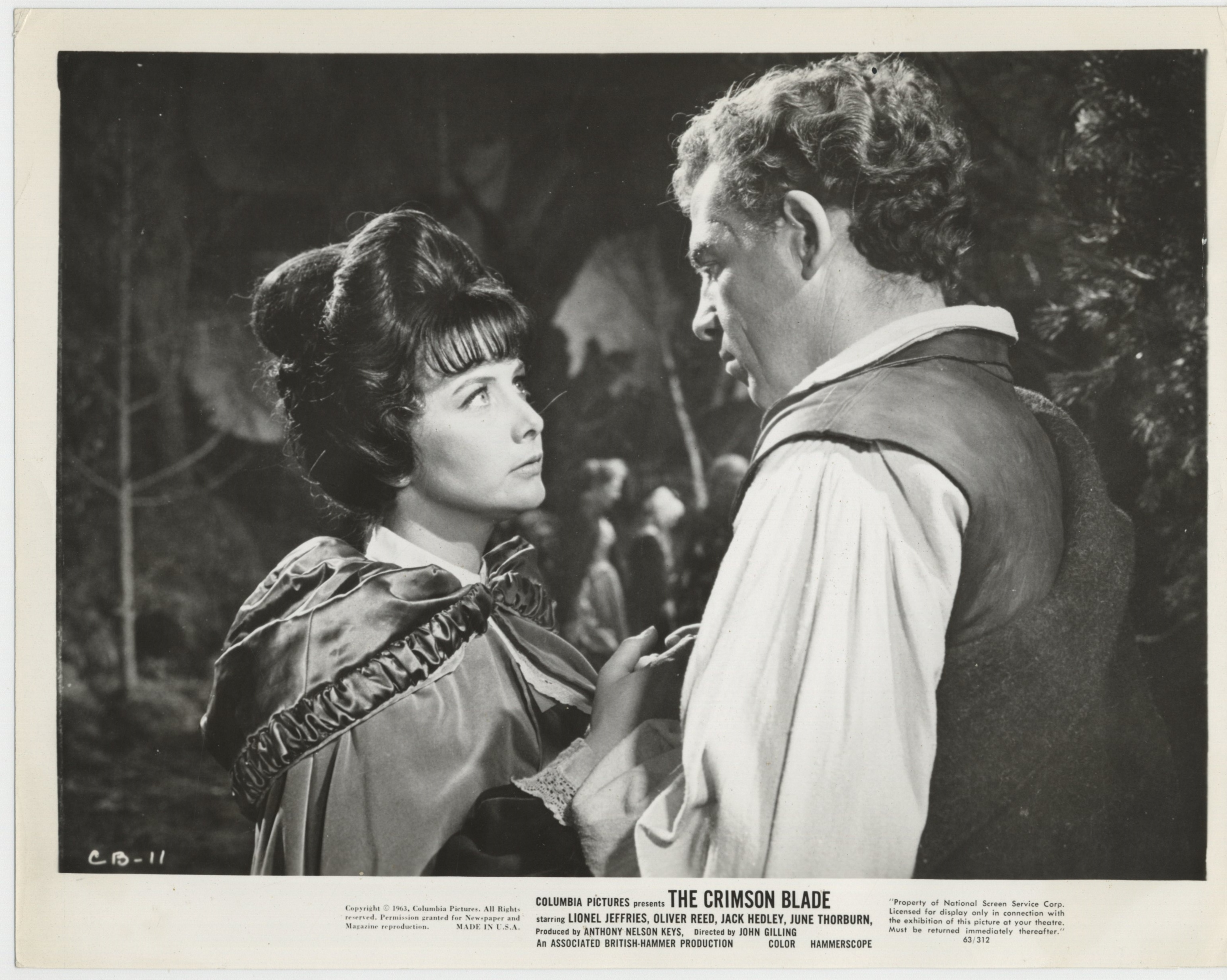 Jack Hedley and June Thorburn in The Scarlet Blade (1963)