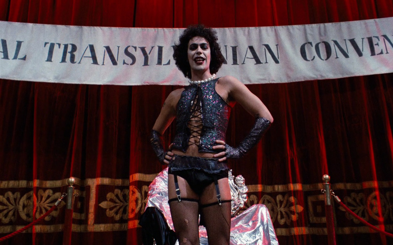 Tim Curry in The Rocky Horror Picture Show (1975)