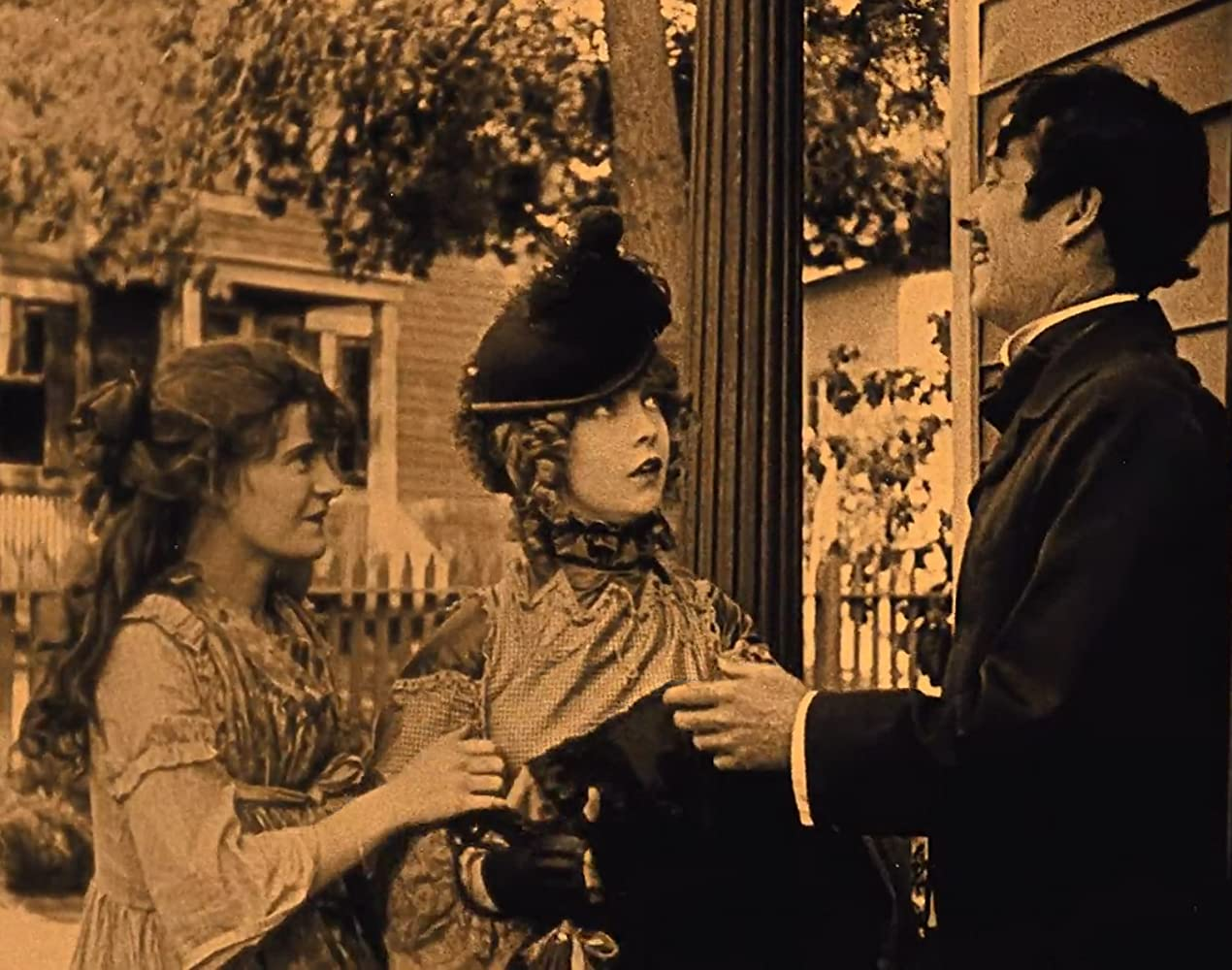 Lillian Gish, Mae Marsh, and Henry B. Walthall in The Birth of a Nation (1915)