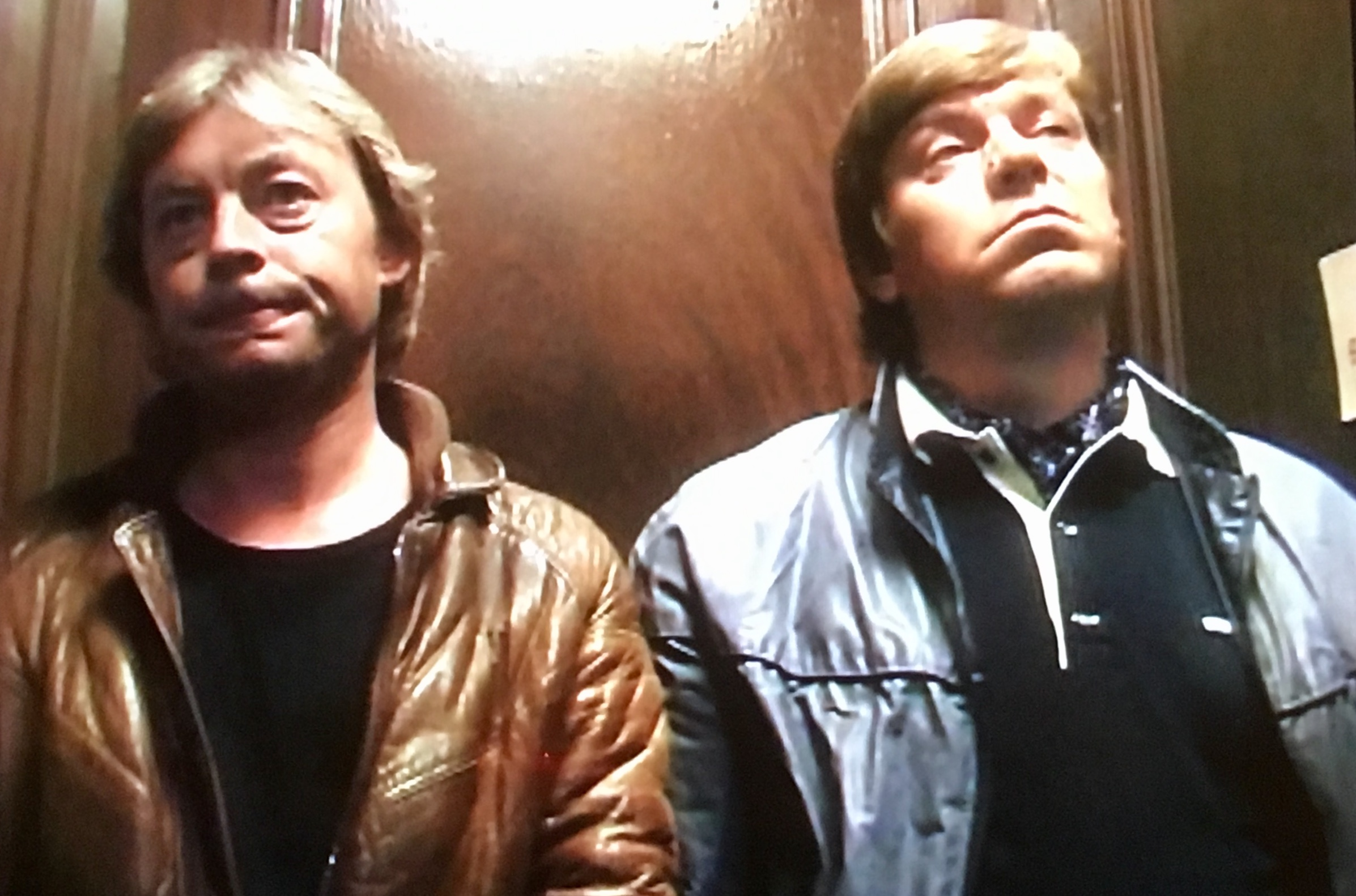 Hywel Bennett and Warren Clarke in Shelley (1979)