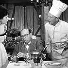 Bourvil, Laurence Lignières, Mag-Avril, and Jean-Pierre Zola in La cuisine au beurre (1963)