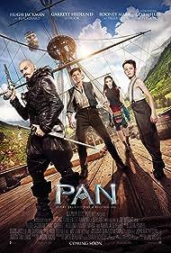Hugh Jackman, Garrett Hedlund, Rooney Mara, and Levi Miller in Pan (2015)