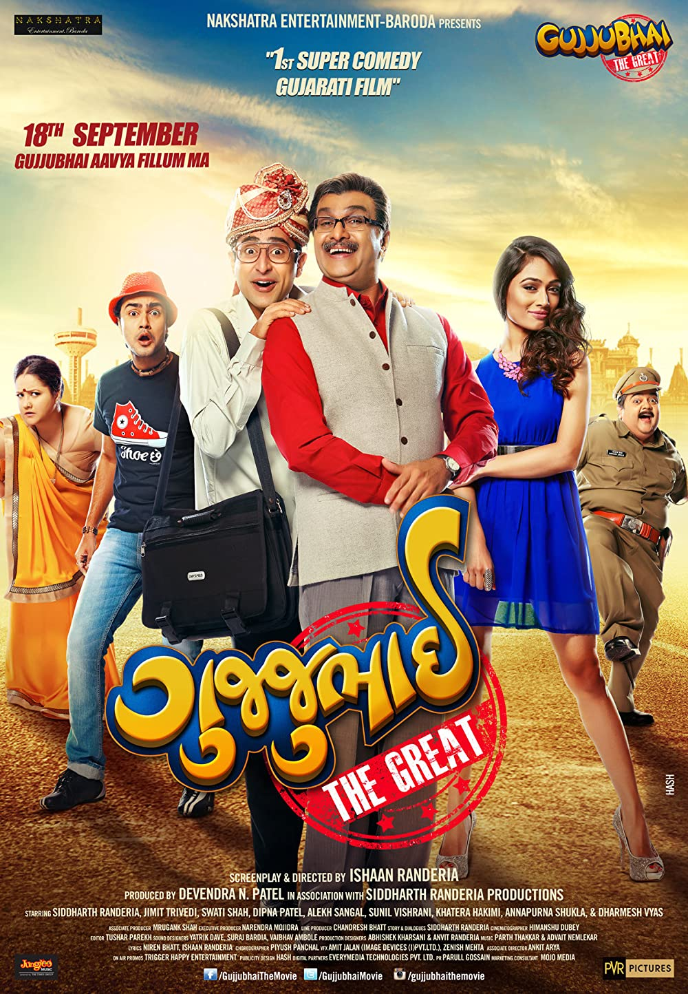 Gujjubhai the Great 2015 Gujarati 720p HDRip ESubs 935MB Download