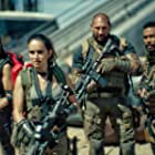 Ana de la Reguera, Omari Hardwick, Dave Bautista, Nora Arnezeder, and Samantha Win in Army of the Dead (2021)
