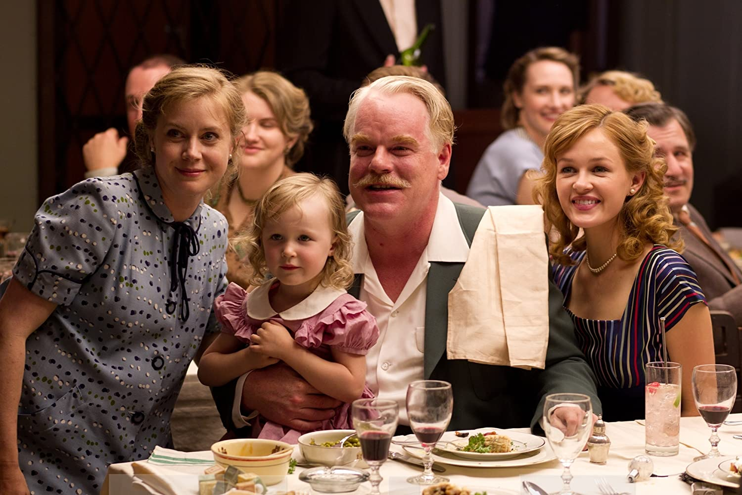 Philip Seymour Hoffman and Amy Adams in The Master (2012)