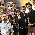 Guy Loel, Yuval Semo, Erez Aviram, and Tomer Aviram in Hashoter Hatov (2015)